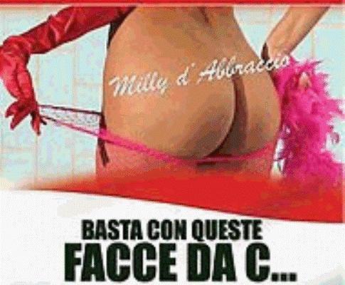 Campanha da actriz porno Milly DAbbraccio