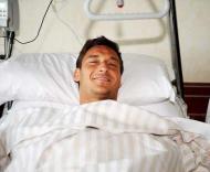 Totti, capitão da Roma, no hospital
