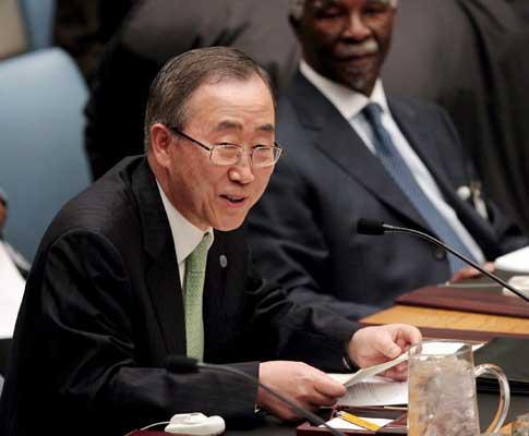 Ban Ki-moon, secretário-geral das Nações Unidas - Foto de JUSTIN LANE/EPA