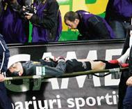 Nuno Claro lesionado (Foto CFRmania.ro)