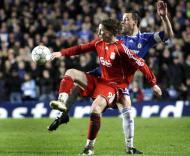 John Terry e Fernando Torres, Chelsea-Liverpool, meia-final da Liga dos Campeões em Stamford Bridge