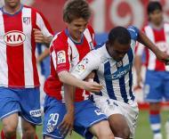 Atlético Madrid vence Huelva e Camacho marca