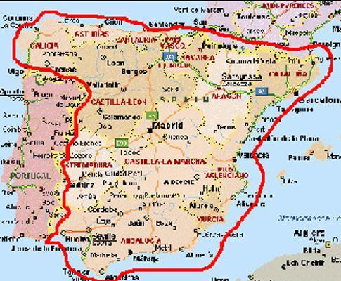 mapa sul portugal espanha 2010: o que muda deste e do outro lado da fronteira | Maisfutebol  mapa sul portugal espanha