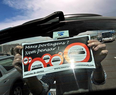 Protesto contra as portagens