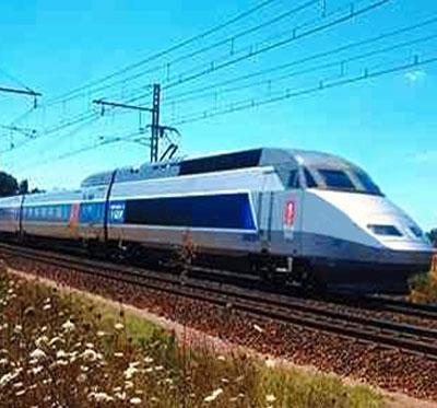Um comboio de alta velocidade
