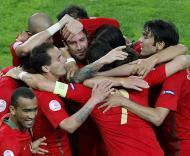 Portugal-Turquia: a estreia no Euro 2008 (Foto EPA)