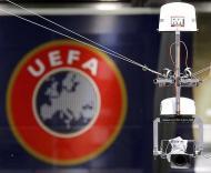 «Spidercam» em acção no Euro 2008 (Foto EPA)