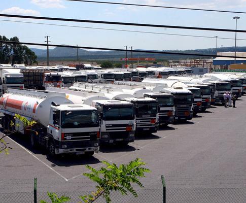 Camiões parados