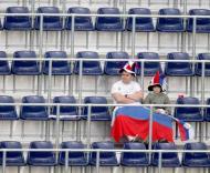 Adeptos russos antes do jogo com a Grécia, Grupo D do Euro-2008