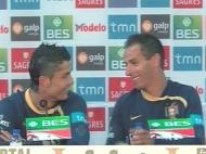 Selecção:C. Ronaldo e Petit bem humorados