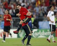 Xavi, o melhor do Euro 2008 (Foto EPA)