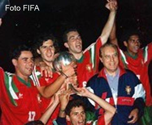 Portugal campeão do Mundo em 1991 (Foto FIFA)