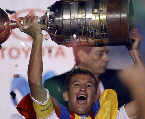LDU levou a Taça Libertadores (Foto EPA)