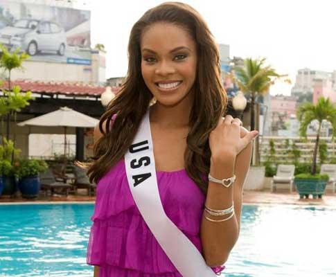 Miss EUA apoia Barack Obama