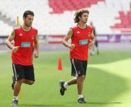 Benfica: internacionais fazem exames