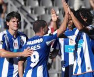 Sapunaru, Lisandro, Rolando e Bruno Alves festejam golo
