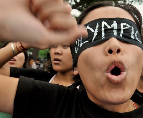 Manifestação pró-Tibete
