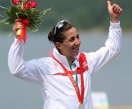 Vanessa com a medalha de prata