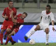 Bosingwa, Bajada e Woods, Malta vs Portugal