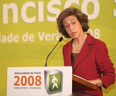 Manuela Ferreira Leite na Universidade de Verão