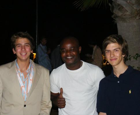 João Francisco Mendes, Luc Mombito e João Almeida (da esquerda para a direita)