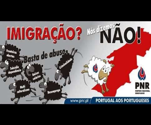 Cartaz do PNR contra a imigração