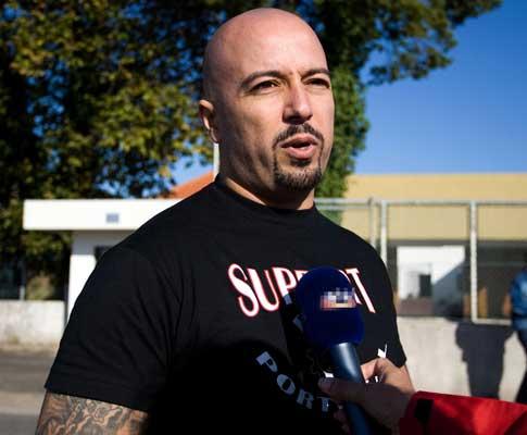 Mário Machado na leitura da senteça do caso dos Skinheads
