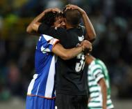 Abraço de Bruno Alves e Nuno, Sporting vs F.C. Porto