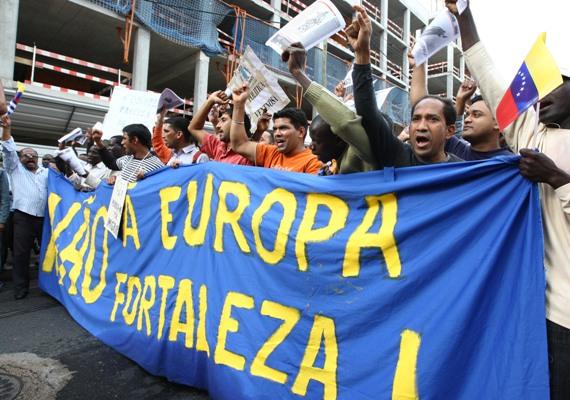 Manifestação de imigrantes em Lisboa
