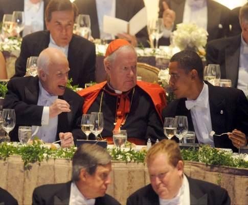 Obama e McCain ao jantar