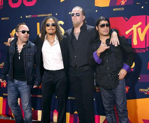 Metallica nos MTV Latin America Awards (EPA)