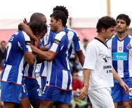 Festa do F.C. Porto depois de mais um golo ao Sertanense
