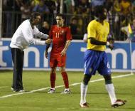 Brasil-Portugal, Queiroz fala com Simão (Foto FPF)