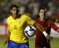 Brasil-Portugal, Thiago Silva e Simão (Foto FPF)