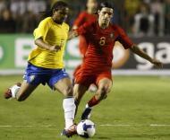 Brasil-Portugal, Anderson e Danny (Foto FPF)