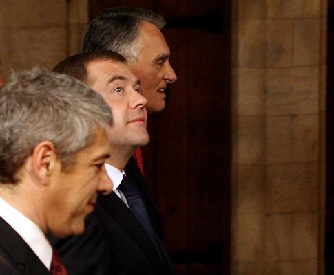 Dmitri Medvedev em Portugal
