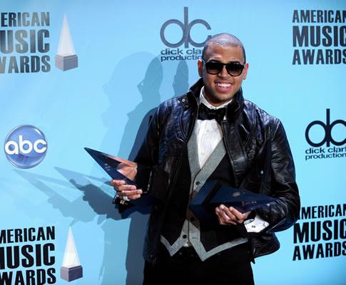 Chris Brown nos American Music Awards 2008 (EPA)