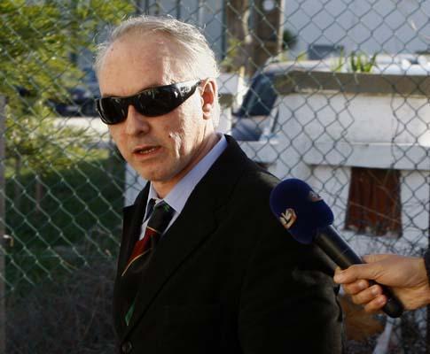 Hugo Marçal à chegada ao Tribunal de Monsanto