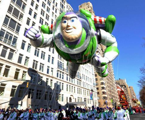 Desfile dedicado ao dia de acção de graças organizado pela loja Macys, em Nova Iorque