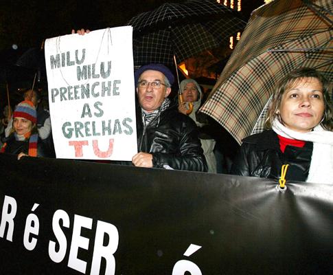 Protesto dos professores em Faro