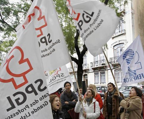 Vigília dos professores em frente ao Ministério da Educação
