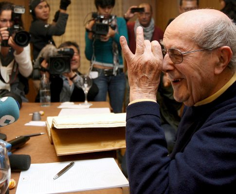 Manoel de Oliveira em conferência de imprensa