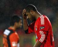 Sidnei, do Benfica, durante o jogo com o Leixões para a Taça de Portugal