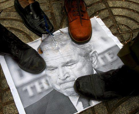 «Bush pisado»