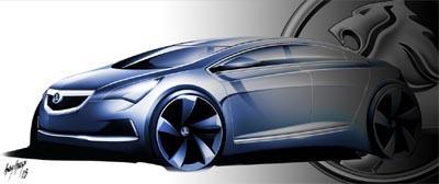 Esboço do novo modelo da Holden