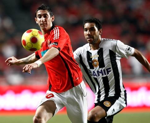 Di María e Edson, Benfica vs Nacional