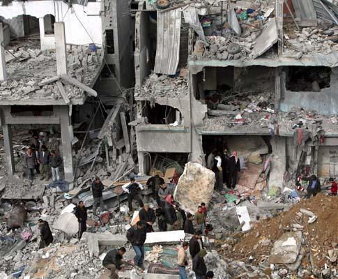 Destruição em Gaza