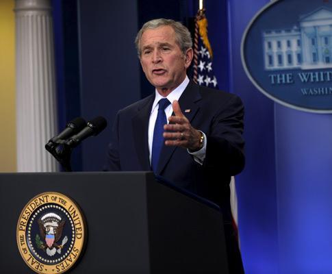 A última conferência de imprensa de Bush
