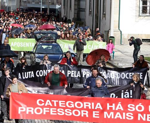 Manifestação de professores