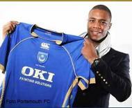 Pelé no Portsmouth (Foto Portsmouth FC)